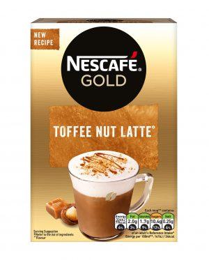 Στιγμιαίο Ρόφημα Καφέ Nescafe Gold Toffee Nut Latte 8x18g