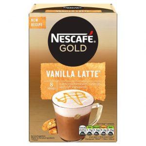 Στιγμιαίο Ρόφημα Καφέ Nescafe Gold Vanilla Latte 8×18.5g
