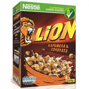 Παιδικά Δημητριακά Ολικής Άλεσης Καραμέλα Σοκολάτα Nestle Lion 400g