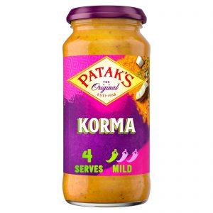 Σάλτσα Μαγειρικής Pataks Korma Cooking Sauce Mild 450g