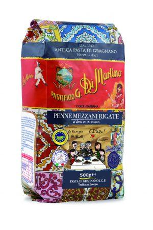 Ζυμαρικά Pastificio G. Di Martino Penne Mezzani Rigate Dolce And Gabbana Designed Special Edition 500g