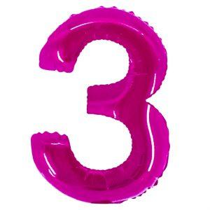 Μπαλόνι Ροζ Νούμερο 3