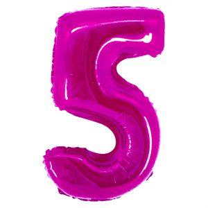 Μπαλόνι Ροζ Νούμερο 5