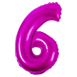 Μπαλόνι Ροζ Νούμερο 6