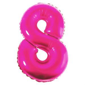 Μπαλόνι Ροζ Νούμερο 8