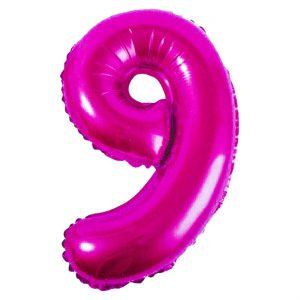 Μπαλόνι Ροζ Νούμερο 9