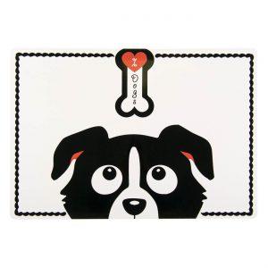 Σουπλά για Σκύλο Μαύρο- Άσπρο 56x38cm