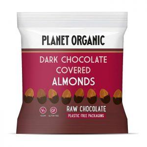 Σοκολατένια Κουφετάκια Αμυγδάλου Planet Organic Vegan Gluten Free Dark Chocolate Covered Almonds 30g
