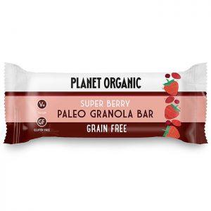 Μπάρα Γκρανόλας Χωρίς Γλουτένη Vegan Planet Organic Paleo Granola Bar Super Berry 30g