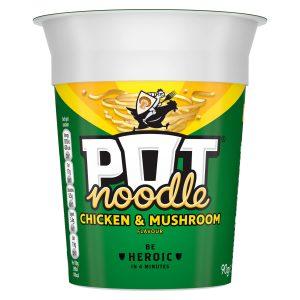 Νούντλς Στιγμής Pot Noodle Chicken and Mushroom 90g