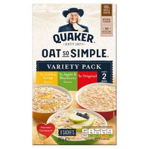 Νιφάδες Βρώμης Ολικής Άλεσης Ποικιλία Quaker Oat So Simple Variety Pack 297g