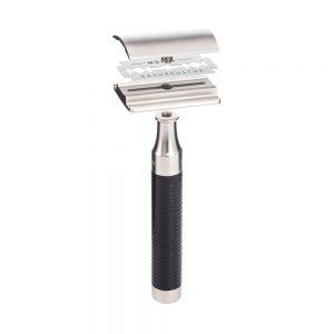 Ξυριστική Μηχανή Muhle Rocca safety razor stainless steel with black handle