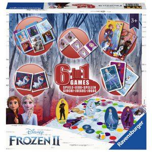 Επιτραπέζιο Frozen 6 in 1 Games Ravensburger (Στα Αγγλικά) 20427