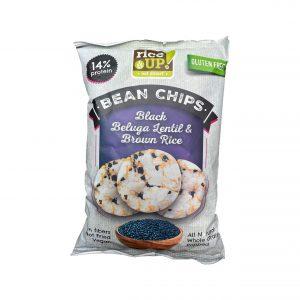 Τσιπς Καστανού Ρυζιού Rice Up Bean Chips Black Beluga Lentil Brown Rice 60g