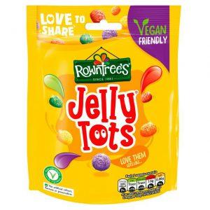 Μαλακες Καραμέλες Vegan Rowntrees Jelly Tots Pouch Bag 150g
