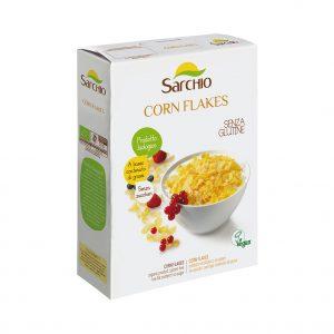 Νιφάδες Καλαμποκιού Βιολογικό Χωρίς Γλουτένη Vegan Sarchio Corn Flakes 250g