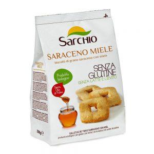 Μπισκότα Φαγόπυρου με Μέλι Βιολογικά Χωρίς Γλουτένη Sarchio Saraceno Miele 200g
