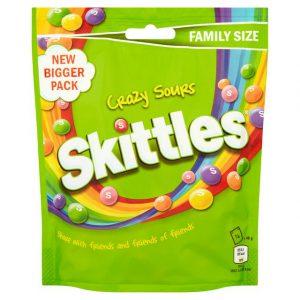 Καραμελάκια Skittles Crazy Sours Flavour 196g