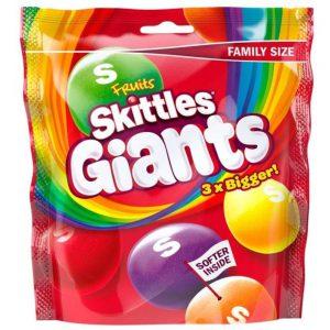 Καραμελάκια Skittles Fruits Giants Family Size 170g