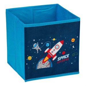 Κουτί Αποθήκευσης Μπλε Υφασμάτινο Space 20x20x20cm