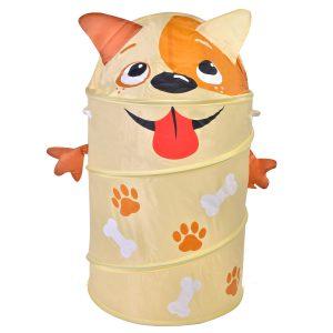 Κουτί Αποθήκευσης Παιχνιδιών Υφασμάτινο Μπεζ Σκυλάκι 40x75cm