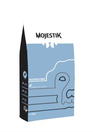 Σκυλοτροφή Χωρίς Γλουτένη για Ευαίσθητα Σκυλιά Mojestik Super Premium Gluten Free Sensitive Adult Dog 12kg