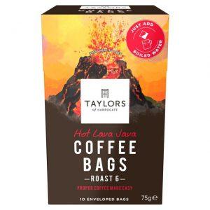 Καφές Taylors of Harrogate Hot Lava Java Roast 6 Coffee Bags 10 Φακελάκια