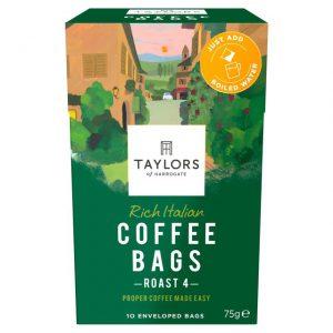Καφές Taylors of Harrogate Rich Italian Roast 4 Coffee Bags 10 Φακελάκια