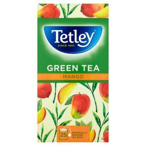 Πράσινο Τσάι με Μάνγκο Tetley Green Tea Mango 25 Tea Bags