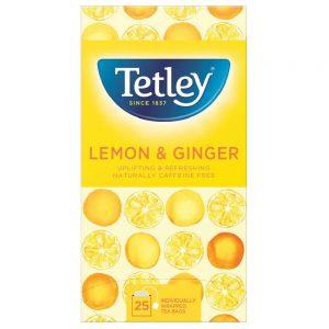 Τσάι Χωρίς Καφεΐνη Λεμόνι Τζίντζερ Tetley Lemon and Ginger Tea Caffeine Free 25 Tea Bags