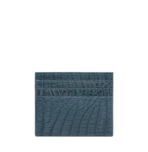 The Project Garments Card Case In Light Blue Alligator Leather