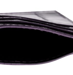 The Project Garments Card Case In Mauve Alligator Leather