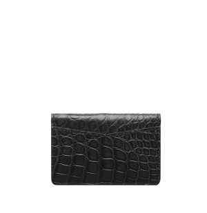 The Project Garments Pocket Organizer in Black Alligator Leather