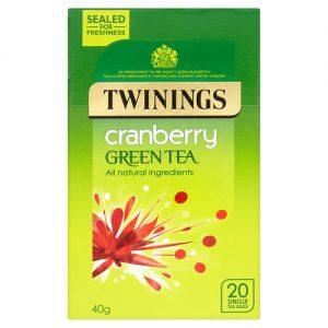 Τσάι Πράσινο Twinings Cranberry Green Tea 20 Tea Bags