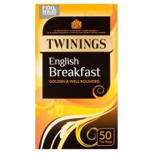 Τσάι Μαύρο Twinings English Breakfast Golden and Well Rounded 50 Tea Bags