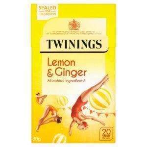Αφέψημα Βοτάνων Twinings Lemon and Ginger 20 Tea Bags