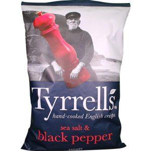 Πατατάκια Tyrrells Sea Salt and Black Pepper 150g