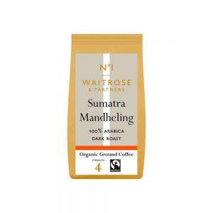 Καφές Φίλτρου Waitrose 1 Sumatra Mandheling 100% Arabica Bio 227g