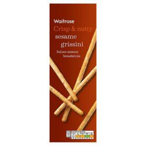 Κριτσίνια Waitrose Crisp and Nutty Sesame Grissini 125g