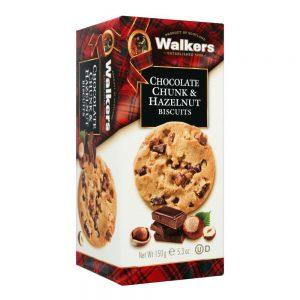 Μπισκότα Walkers Chocolate Chunk and Hazelnut Biscuits 150g