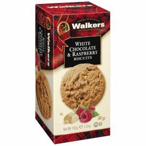 Μπισκότα Walkers White Chocolate and Raspberry Biscuits 150g