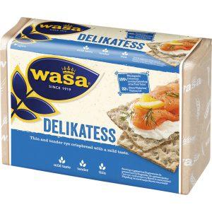 Φρυγανιές Σικάλεως Ολικής Άλεσης Wasa Delikatess 270g