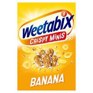 Δημητριακά Ολικής Άλεσης Weetabix Crispy Minis Banana 600g