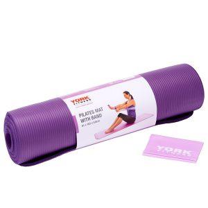 Στρώμα Γυμναστικής με Λάστιχο York Fitness Pilates Mat with Resistance Band 60226