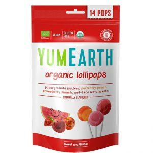 Γλειφιτζούρια Βιολογικά YumEarth Organic Lollipops 85g