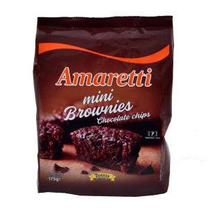Ατομικά Κέικ Brownies Mini Amaretti With Chocolate Chips 175g