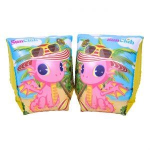 Μπρατσάκια Παιδικά  Ροζ Δράκος Kids Swim Armbands Pink Dragon 23x15cm