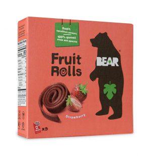 Bear yoyo Παιδικό Σνακ Φρούτου Vegan Strawberry Pure Fruit Yo Yo Bear 5x20g