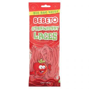 Ζελεδάκια Φράουλα Bebeto Strawberry Laces 250g