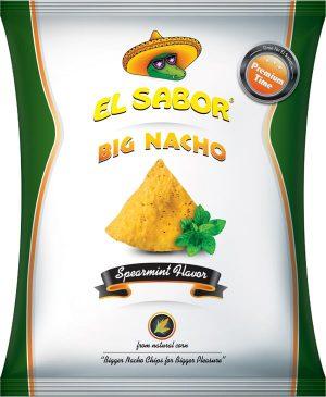 Τσιπς Νάτσος Μεγάλα Με Δυόσμο El Sabor Big Nacho Spearmint 200g